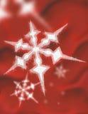 Fiocco di neve su colore rosso Fotografia Stock Libera da Diritti