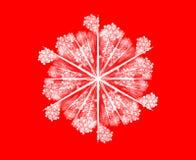 Fiocco di neve su colore rosso illustrazione di stock