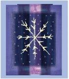 Fiocco di neve viola Immagini Stock