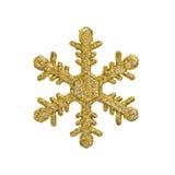 Fiocco dorato della neve di natale Immagine Stock Libera da Diritti