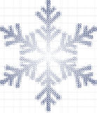 Fiocco e quadrati della neve Fotografia Stock