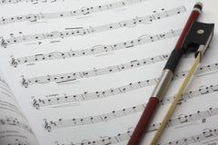 fiol för musikark Fotografering för Bildbyråer