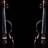 Fiolduett två fioler Arkivbilder