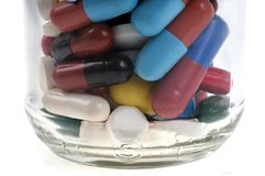 Fiole de divers médicaments photos stock