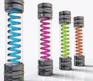 fiole de virus d'isolement par 3D Concept médical de maladie Photographie stock