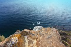 Fiolent,克里米亚-海风景 免版税库存图片