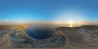 Fiolent Крым Панорама воздух 360 градусов Стоковое фото RF