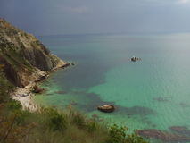 Fiolent bay, Crimea. Beautiful view, great beach, nice water and amazing colours Stock Photo