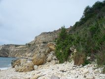 Fiolent beach. Crimea. Fiolent bay and beach. Crimea Stock Images