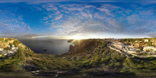 Fiolent. Crimea. Panorama 360 degree air. Royalty Free Stock Image