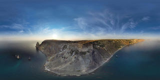 Fiolent. Crimea. Panorama 360 degree air. Royalty Free Stock Photo
