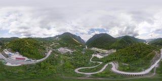 Fiolent crimea Panorama 360 graadlucht Royalty-vrije Stock Afbeelding