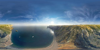 Fiolent crimea Panorama 360 grad luft fotografering för bildbyråer