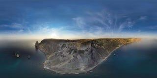 Fiolent crimeia Panorama ar de 360 graus Foto de Stock Royalty Free