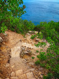 Fiolent staircase in Crimea Stock Photos