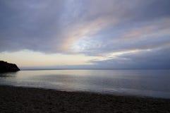 fiolent udd Black Sea tidig fj?der arkivfoto