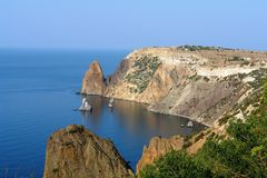 fiolent udd Sevastopol Crimea arkivbilder