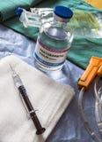 Fioles avec du pentobarbital de sodium utilisé pour l'euthanasie et l'inyecion mortel dans un hôpital photo libre de droits
