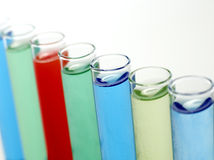 Fioles de laboratoire Photographie stock