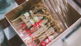 Fioles en verre à décorer dans le style de boho Décoration en verre à l'événement Ballon en verre de vintage Orientation peu prof Photos stock
