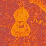 fioletowo - abstrakcyjny tła żółty Fotografia Royalty Free