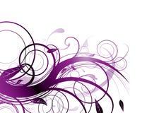 fioletowy kwiat royalty ilustracja