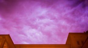 fioletowy niebo Zdjęcia Stock