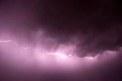 fioletowy odcień błyskawica Zdjęcie Stock