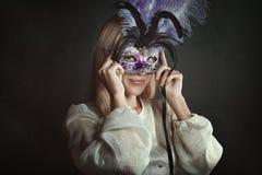 fioletowy venetian maska fotografia stock