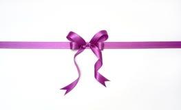 fioletowy wstążki Fotografia Royalty Free