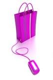 fioletowy zakupy przez internet Obrazy Stock