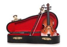 Fiolminiatyrmusikinstrument Royaltyfri Foto