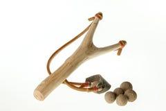 Fionda di legno Immagini Stock