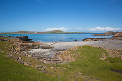 Fionnphort port Isle of Mull Scotland UK view to Iona island Royalty Free Stock Photography
