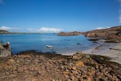 Fionnphort port Isle of Mull Scotland UK view to Iona island Stock Photo
