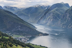 The Fiord at Aurland, Norway Stock Photography