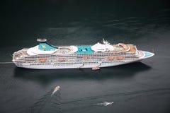 Fiord cruise ship Royalty Free Stock Photo