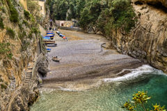 Fiord of Furore,italian fishing village of Amalfi coast Royalty Free Stock Photography