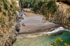 Fiord of Furore,italian fishing village of Amalfi coast. HDR Royalty Free Stock Photography