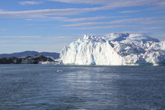 Fiord iceberg. Ilulissat fiord in west greenlad Stock Images