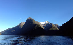 Fiord imponente en Nueva Zelanda Foto de archivo libre de regalías