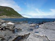 fiord porsanger Στοκ Εικόνες