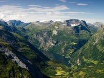 fiorda geiranger Zdjęcie Royalty Free