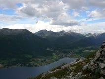 Fiorde Andalsnes da paisagem de Noruega, Nesaksla, Foto de Stock Royalty Free