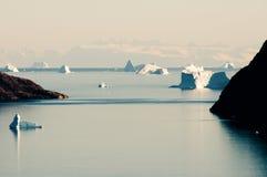 Fiorde dos iceberg - som de Scoresby - Gronelândia Foto de Stock Royalty Free