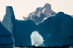 Fiorde dos iceberg - som de Scoresby - Gronelândia Imagem de Stock Royalty Free