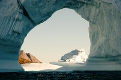 Fiorde dos iceberg - som de Scoresby - Gronelândia Foto de Stock