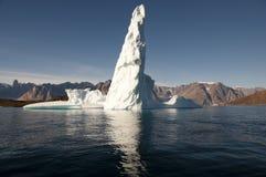 Fiorde dos iceberg - som de Scoresby - Gronelândia Fotografia de Stock Royalty Free