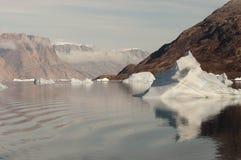 Fiorde dos iceberg - som de Scoresby - Gronelândia Imagem de Stock