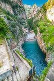 Fiorde famoso do Furore na costa de Amalfi Fotografia de Stock Royalty Free
